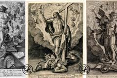 Cristo-tirunfante-y-San-Miguel-con-Lucifer-en-Martin-de-Vos-y-Wierix