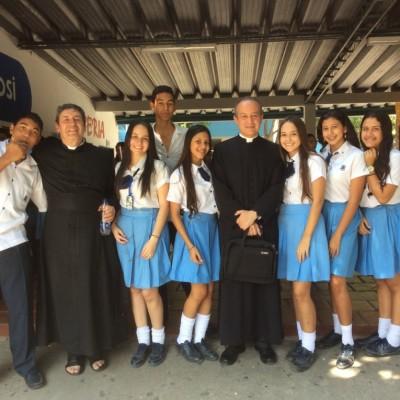 En Cartagena con estudiantes. De bachillerato 2016