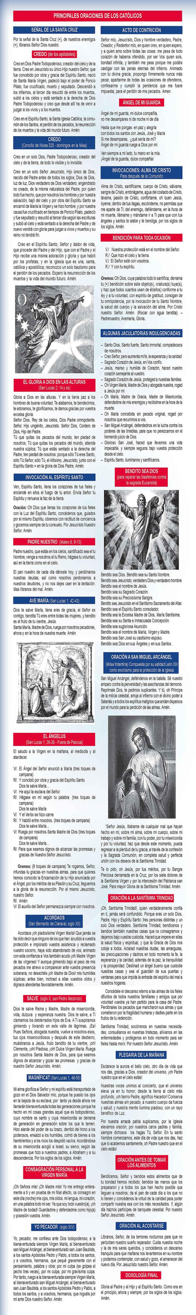 Principales oraciones de los católicos