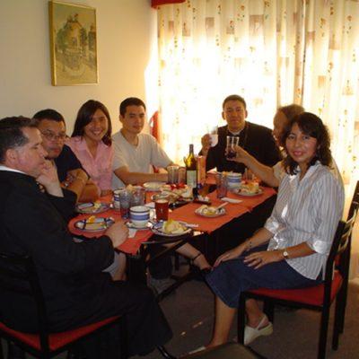 Almuerzo con el Padre Rafael Navas - Santiago de Chile