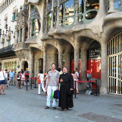 Con Mauricio Basullas - Barcelona España