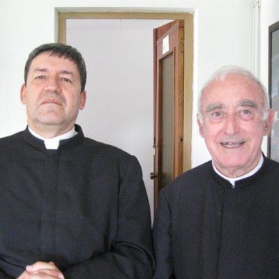 Con el Padre Muñoz en Argentona España