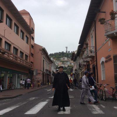 En una calle de Quito Ecuador