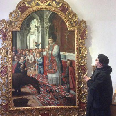 La mula que adoró el Santísimo Sacramento San Antonio de Padua (Rimini Italia)