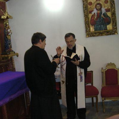 Monseñor Ojalbo bendice capilla Buen Pastor - Bogotá Colombia