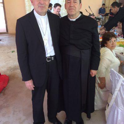 P. Pivel y Obispo Guillermo Steckling de Ciudad del Este Paraguay