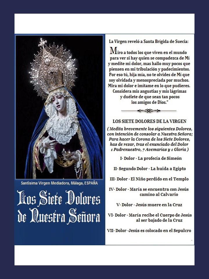 Los 7 dolores de la Virgen María (Devocionario)